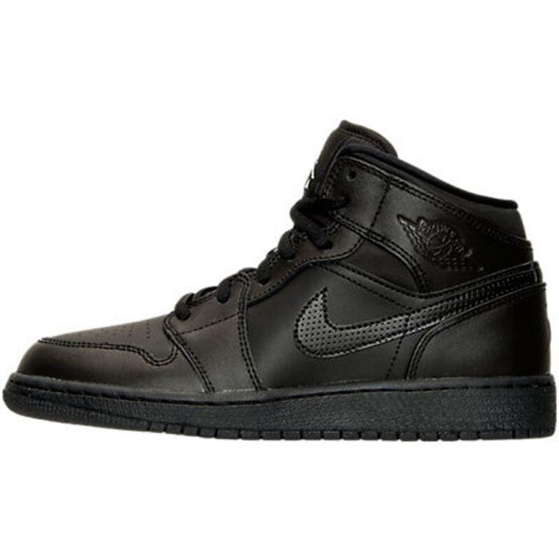 Air Jordan 1 Mid BG Black 籃球鞋/運動鞋 (554725-044) 海外預訂