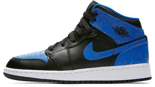 Air Jordan 1 Mid GS Black Royal 籃球鞋/運動鞋 (554725-048) 海外預訂