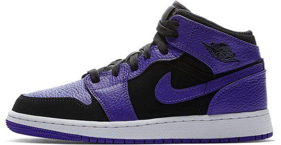 Air Jordan 1 Mid GS Black Dark Concord 籃球鞋/運動鞋 (554725-051) 海外預訂