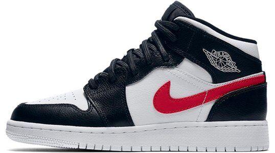 Air Jordan 1 Mid BG Black 籃球鞋/運動鞋 (554725-052) 海外預訂