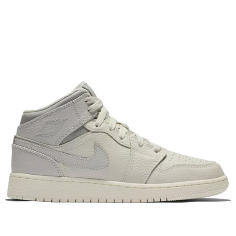Air Jordan 1 Mid GS Light Bone 籃球鞋/運動鞋 (554725-053) 海外預訂