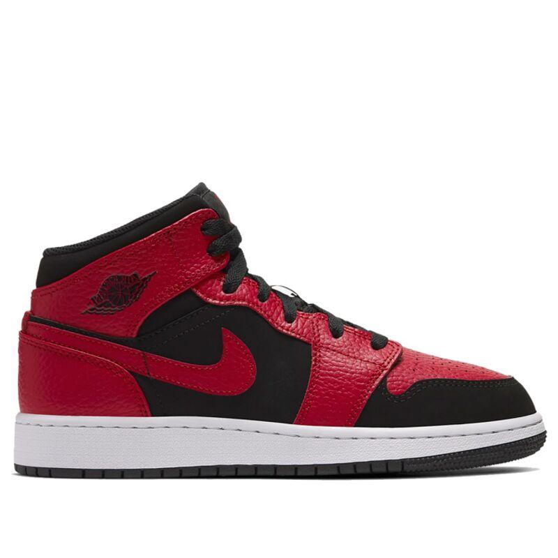 Air Jordan 1 Mid GS Black Gym Red 籃球鞋/運動鞋 (554725-054) 海外預訂