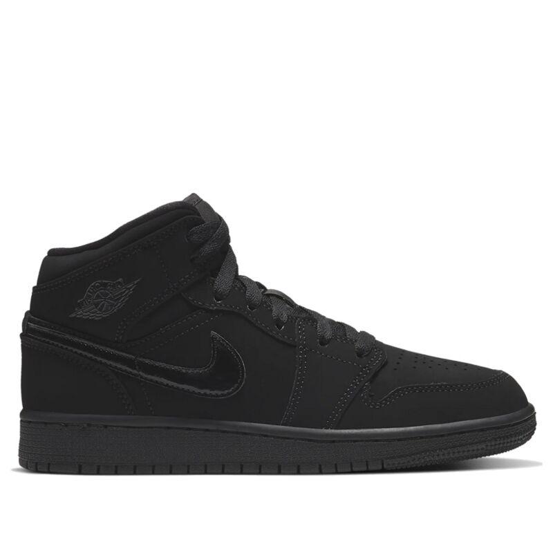 Air Jordan 1 Mid GS 'Triple Black' Black/Black/Black 籃球鞋/運動鞋 (554725-056) 海外預訂