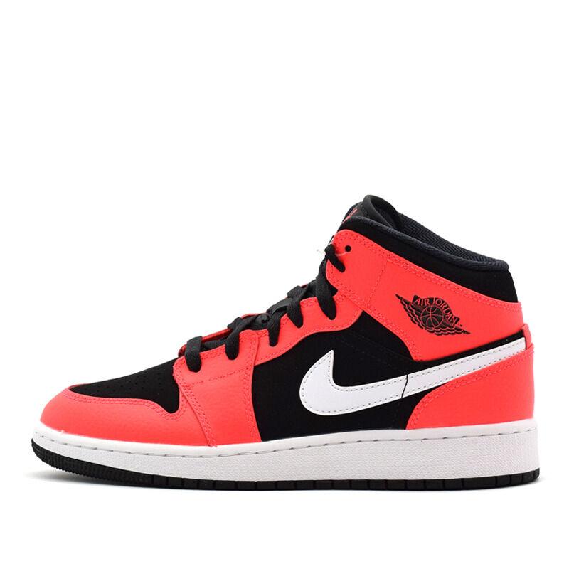 Air Jordan 1 Mid GS Black Infrared 籃球鞋/運動鞋 (554725-061) 海外預訂