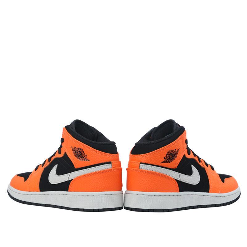 Air Jordan 1 Mid GS Black Vivid Orange 籃球鞋/運動鞋 (554725-062) 海外預訂
