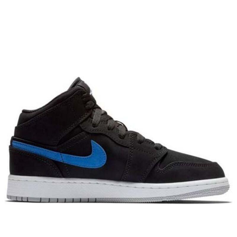 Air Jordan 1 Mid GS Black 籃球鞋/運動鞋 (554725-065) 海外預訂