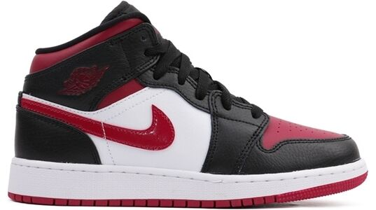 Air Jordan 1 Mid GS Black Noble Red 籃球鞋/運動鞋 (554725-066) 海外預訂