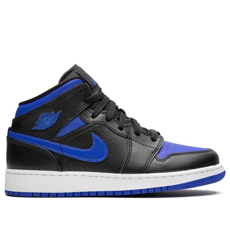 Air Jordan 1 Mid'Black Hyper Royal' GS Black/Hyper Royal/White 籃球鞋/運動鞋 (554725-068) 海外預訂