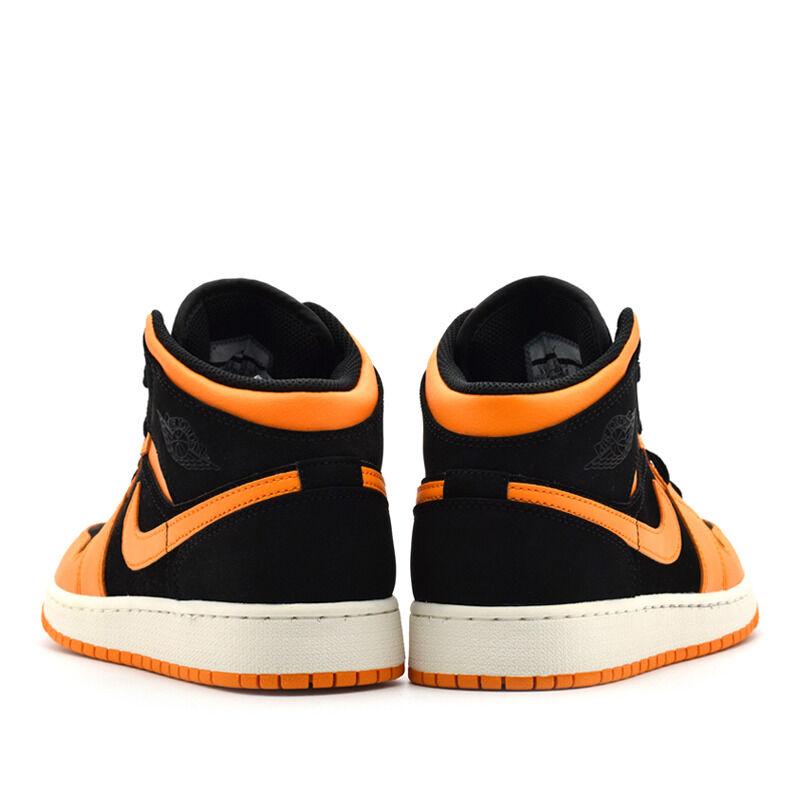 Air Jordan 1 Mid GS Black Orange Peel 籃球鞋/運動鞋 (554725-081) 海外預訂
