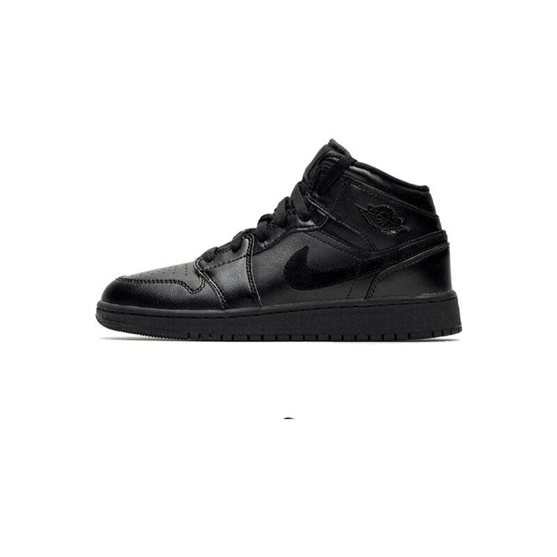 Air Jordan 1 Mid 'Deep Black' Black/Black/Black 籃球鞋/運動鞋 (554725-090) 海外預訂