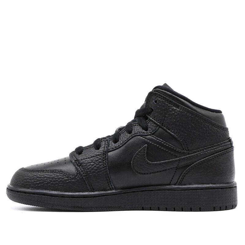 Air Jordan 1 Mid GS Triple Black 籃球鞋/運動鞋 (554725-091) 海外預訂