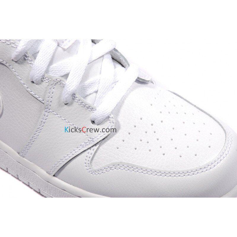 Air Jordan 1 Mid BG White 籃球鞋/運動鞋 (554725-102) 海外預訂