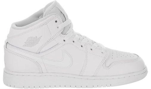 Air Jordan 1 Mid BG White Pure Platinum 籃球鞋/運動鞋 (554725-104) 海外預訂