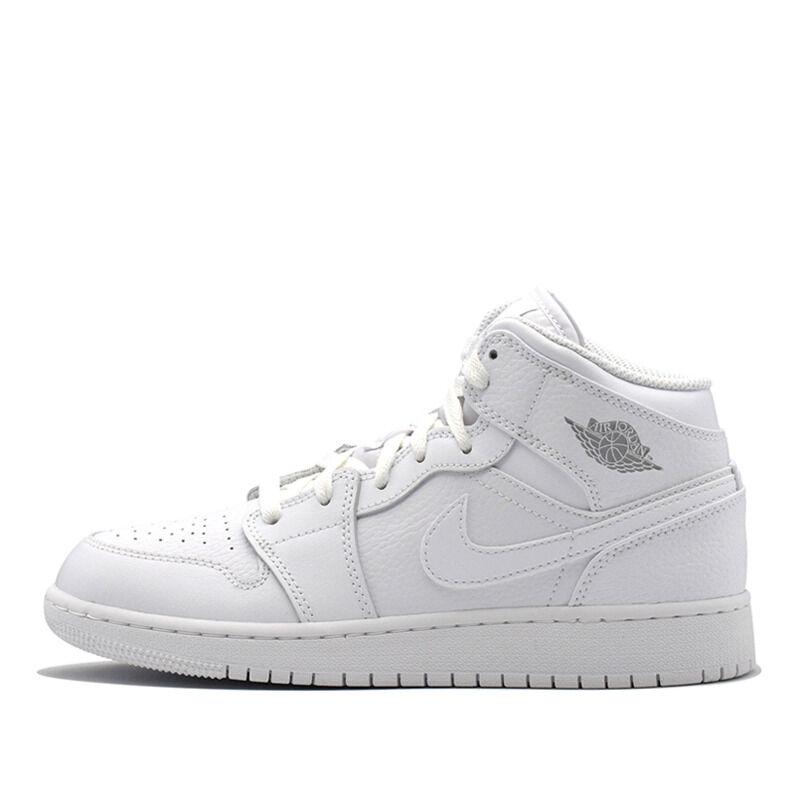 Air Jordan 1 Mid GS White Pure Platinum 籃球鞋/運動鞋 (554725-109) 海外預訂