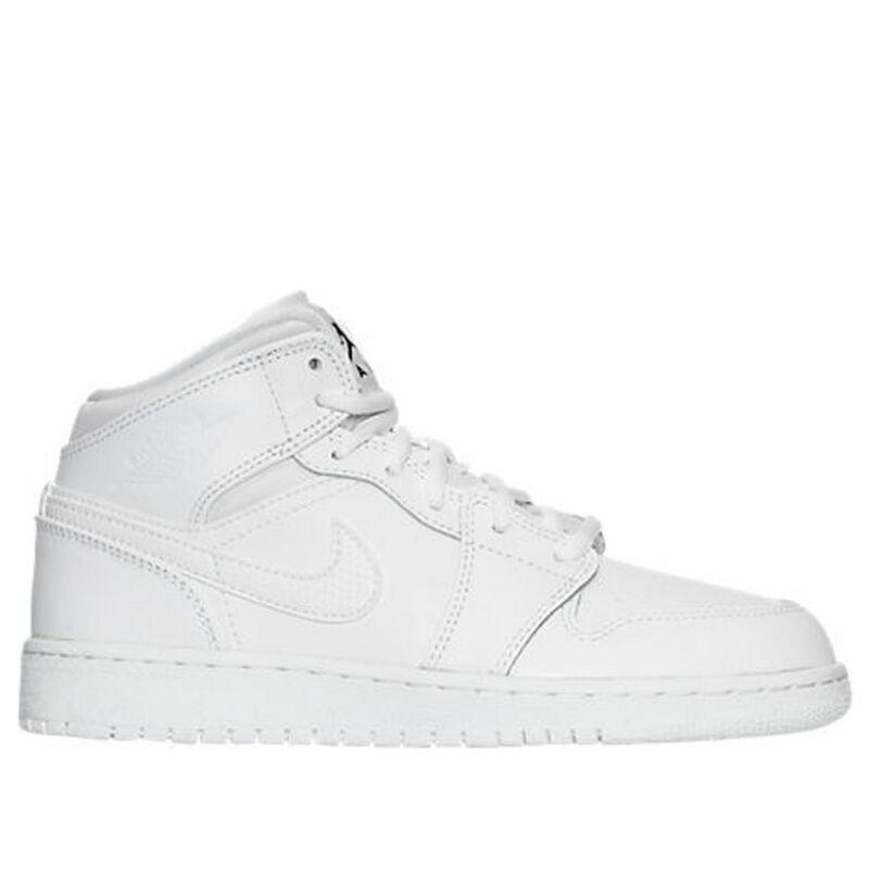 Air Jordan 1 Mid BG White 籃球鞋/運動鞋 (554725-110) 海外預訂