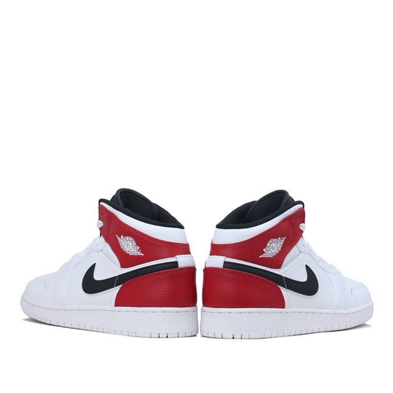 Air Jordan 1 Mid GS White Black Gym Red 籃球鞋/運動鞋 (554725-116) 海外預訂