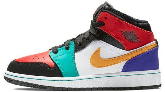 Air Jordan 1 Mid GS Multi 籃球鞋/運動鞋 (554725-125) 海外預訂