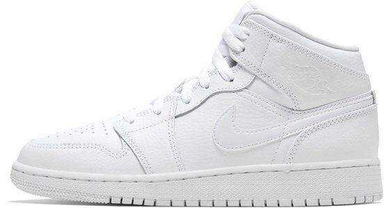 Air Jordan 1 Mid GS White 籃球鞋/運動鞋 (554725-126) 海外預訂