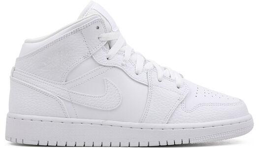 Air Jordan 1 Mid GS Triple White 籃球鞋/運動鞋 (554725-130) 海外預訂