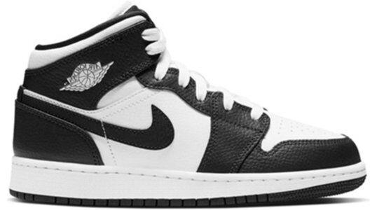 Air Jordan 1 Mid GS White Obsidian 籃球鞋/運動鞋 (554725-174) 海外預訂