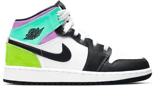 Air Jordan 1 Mid (GS) 籃球鞋/運動鞋 (554725-175) 海外預訂