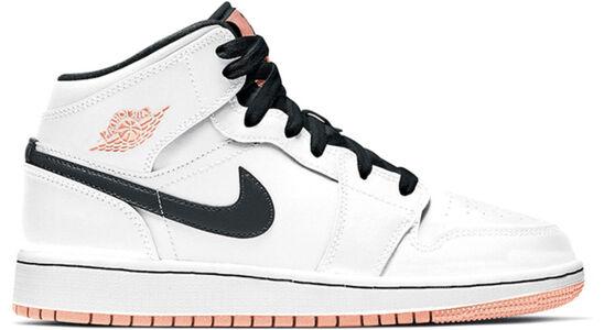 Air Jordan 1 Mid GS 'White Arctic Orange' White/Anthracite/Arctic Orange 籃球鞋/運動鞋 (554725-180) 海外預訂