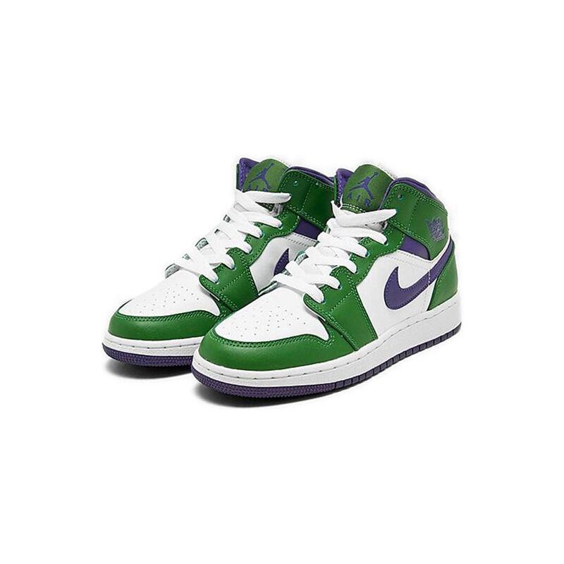 Air Jordan 1 Mid'Hulk' GS Aloe Verde/Court Purple/White 籃球鞋/運動鞋 (554725-300) 海外預訂
