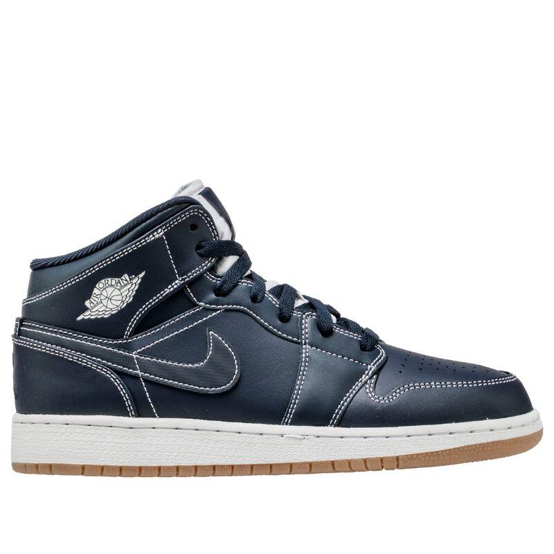 Air Jordan 1 Retro Mid'Obsidian' GS Obsidian/White-Gum Light Brown 籃球鞋/運動鞋 (554725-402) 海外預訂