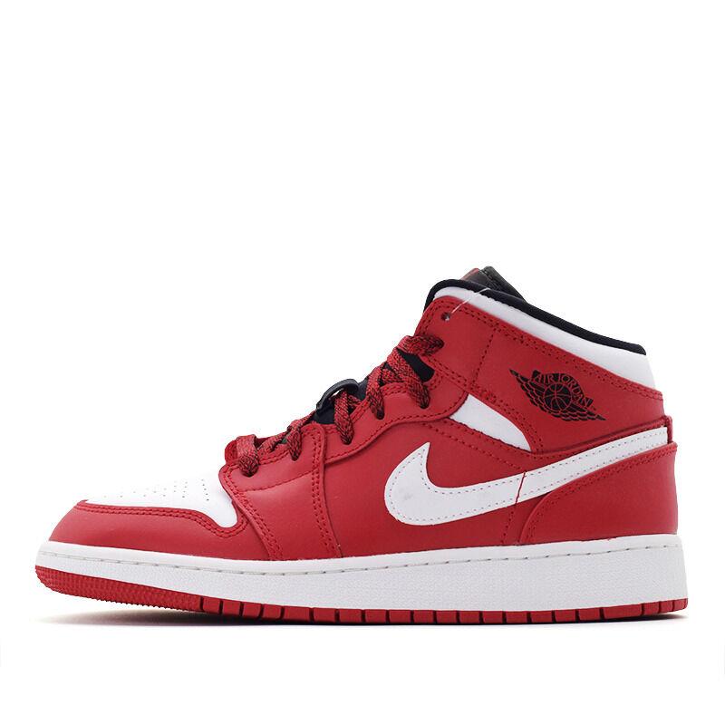 Air Jordan 1 Mid BG Gym Red 籃球鞋/運動鞋 (554725-605) 海外預訂