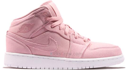 Air Jordan 1 Mid BG Sheen White 籃球鞋/運動鞋 (554725-620) 海外預訂