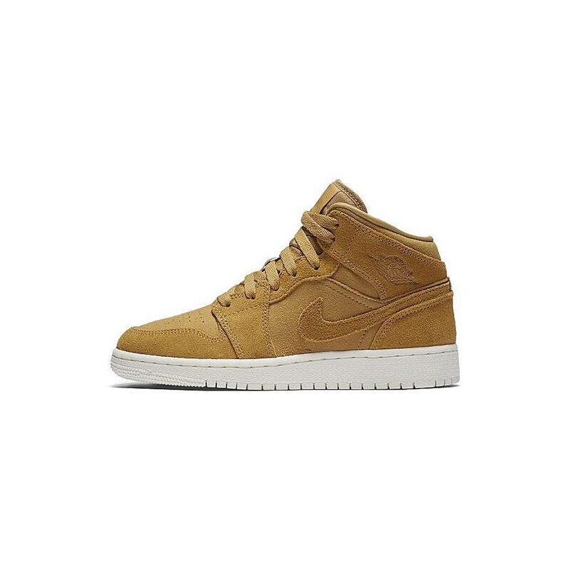 Air Jordan 1 Mid BG GOLDEN HARVEST/SAIL 籃球鞋/運動鞋 (554725-725) 海外預訂