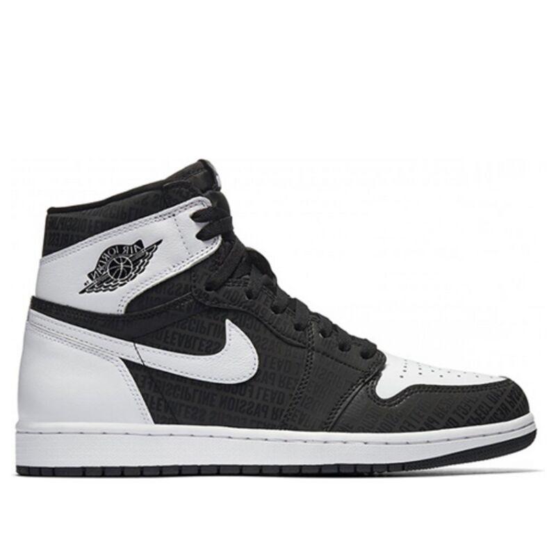 Air Jordan 1 Retro High OG 'RE2PECT' Black/White 籃球鞋/運動鞋 (555088-008) 海外預訂