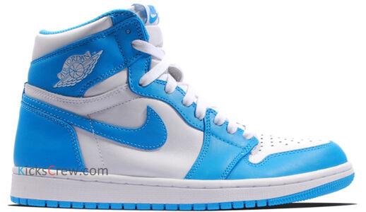 Air Jordan 1 Retro High OG UNC 籃球鞋/運動鞋 (555088-117) 海外預訂