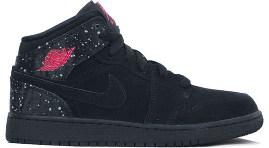 Air Jordan 1 Mid Black Rush Pink 籃球鞋/運動鞋 (555112-001) 海外預訂