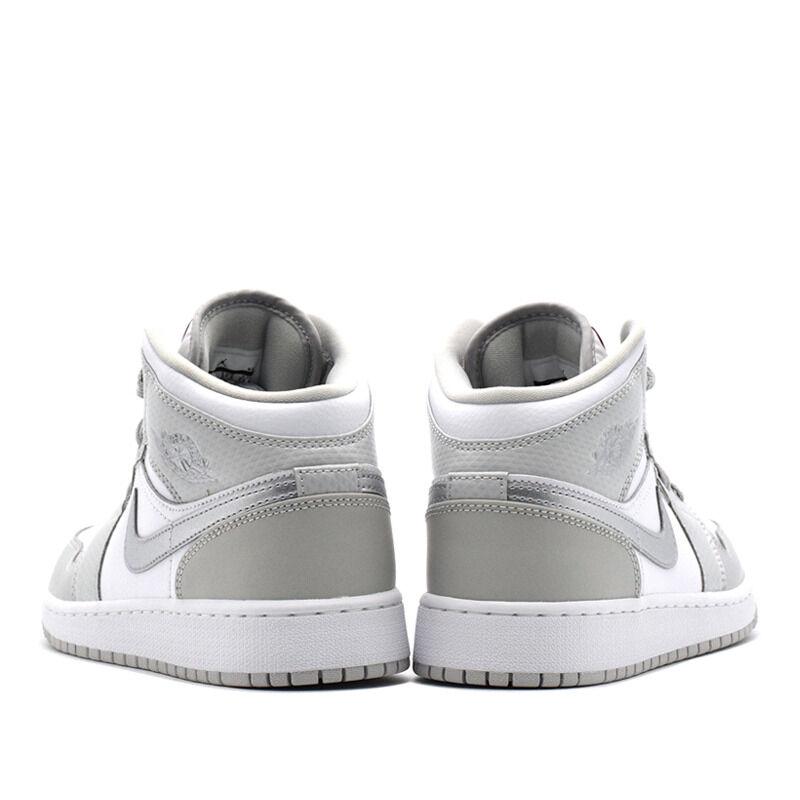 Air Jordan 1 Mid GG Grey Fog Metallic Silver 籃球鞋/運動鞋 (555112-012) 海外預訂