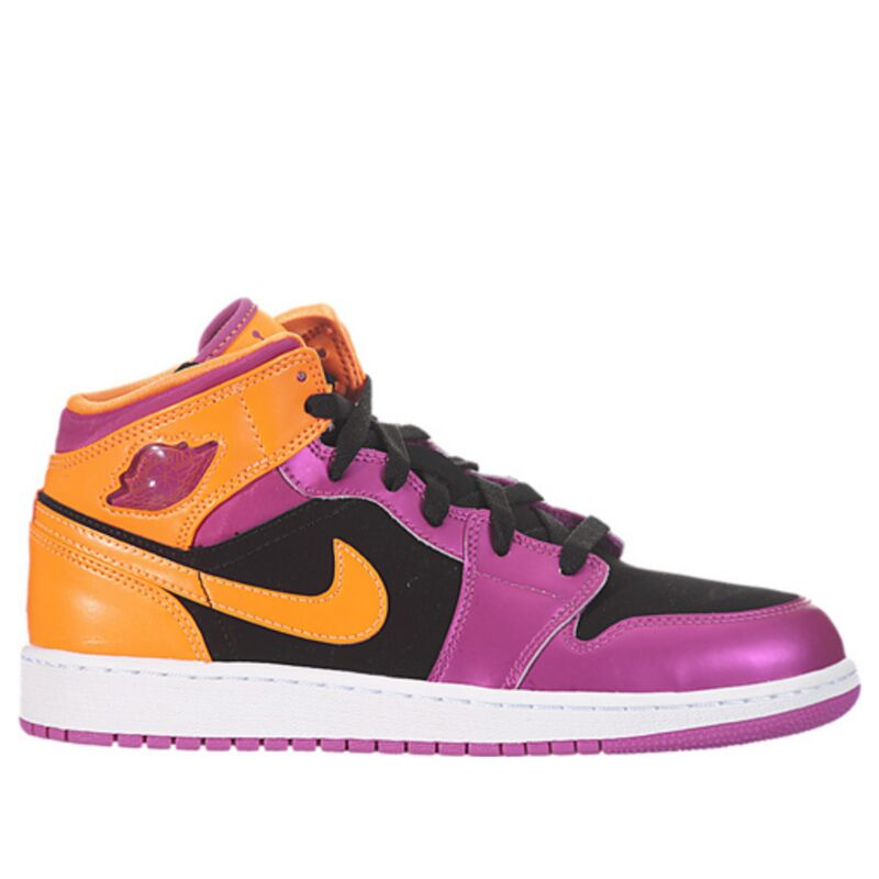 Air Jordan 1 Retro Mid'Bright Citrus' GS Black/Fusion Pink-Bright Citrus 籃球鞋/運動鞋 (555112-026) 海外預訂