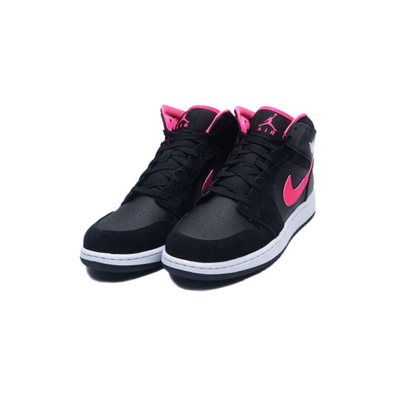 Air Jordan 1 Retro Mid GS 'Hyper Pink' Black/Hyper Pink-White 籃球鞋/運動鞋 (555112-039) 海外預訂