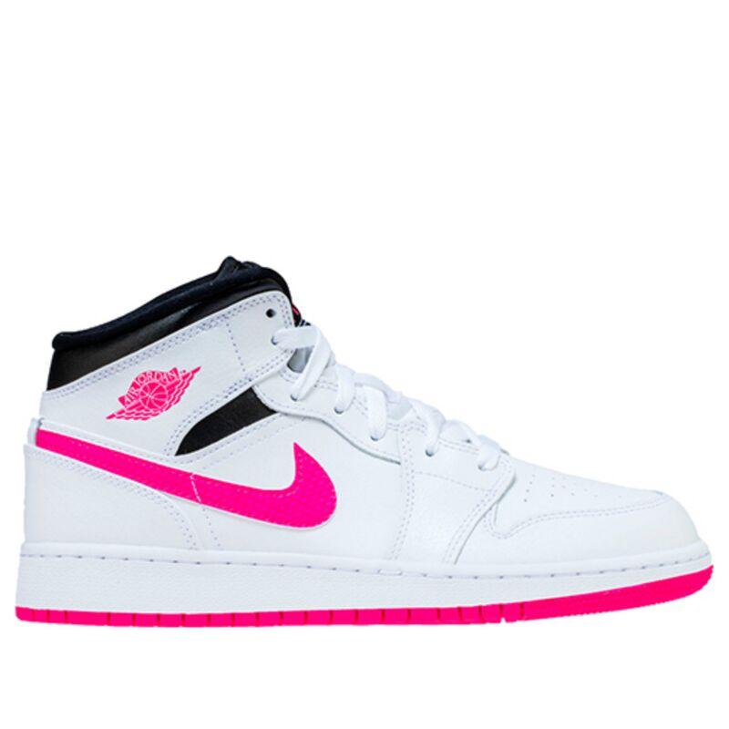 Air Jordan 1 Mid GS White 籃球鞋/運動鞋 (555112-106) 海外預訂