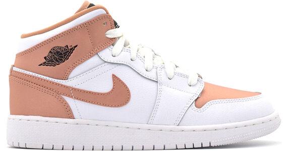 Air Jordan 1 Mid GS White Rose Gold 籃球鞋/運動鞋 (555112-190) 海外預訂