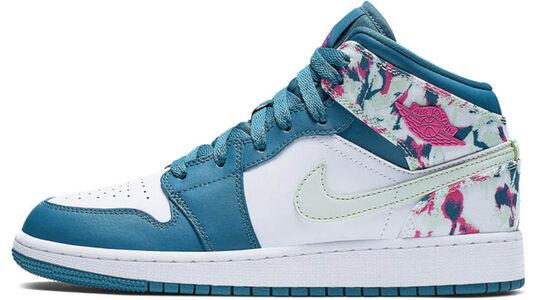 Air Jordan 1 Mid GS Green Abyss 籃球鞋/運動鞋 (555112-300) 海外預訂