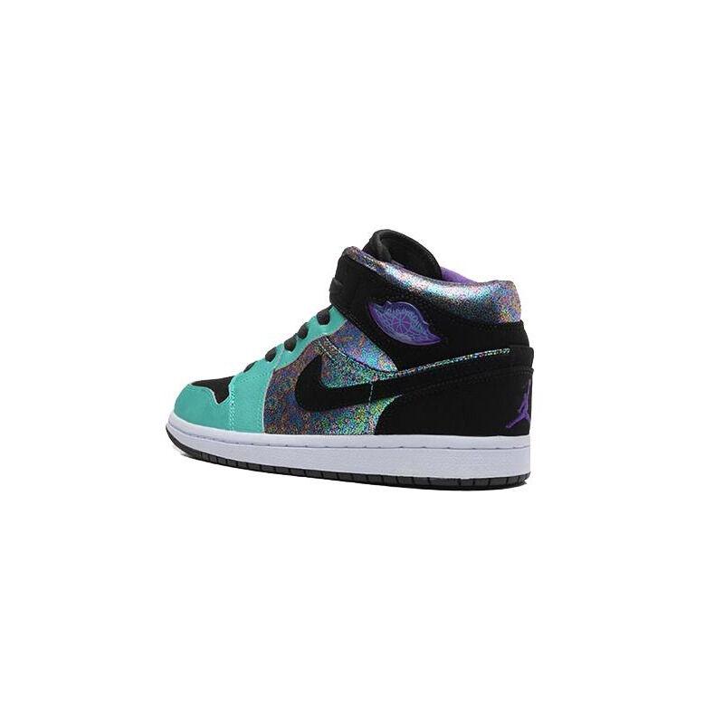 Air Jordan 1 Mid GS 'Atomic Teal Ultraviolet' Atomic Teal/Black/Ultraviolet/White 籃球鞋/運動鞋 (555112-309) 海外預訂