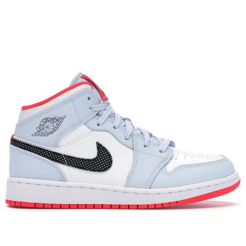 Air Jordan 1 Mid GS Half Blue 籃球鞋/運動鞋 (555112-400) 海外預訂