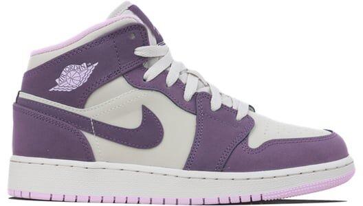 Air Jordan 1 Mid GS Pro Purple 籃球鞋/運動鞋 (555112-500) 海外預訂