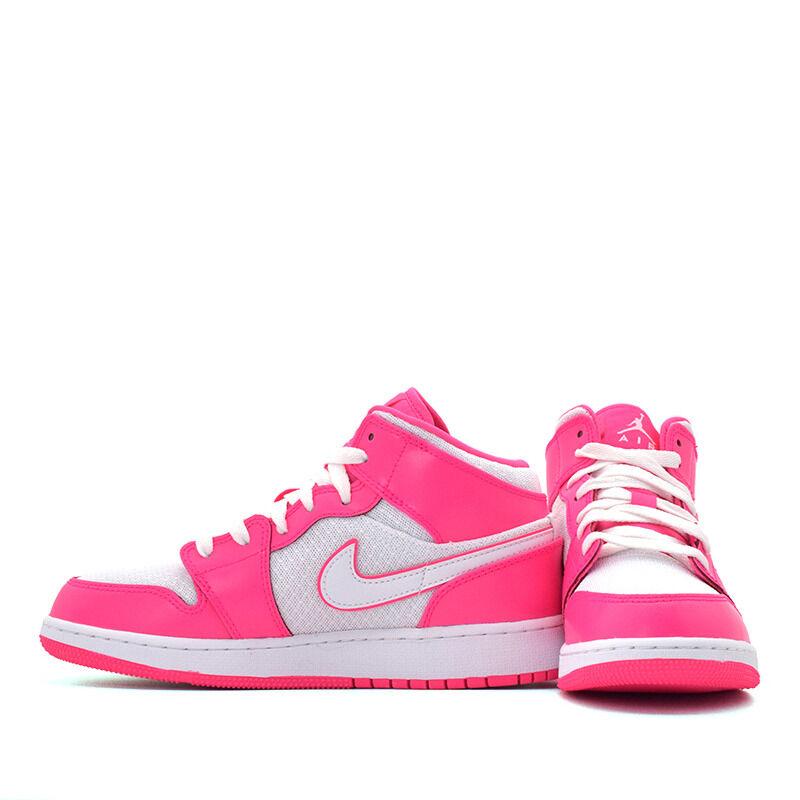 Air Jordan 1 Mid GS Hyper Pink White 籃球鞋/運動鞋 (555112-611) 海外預訂
