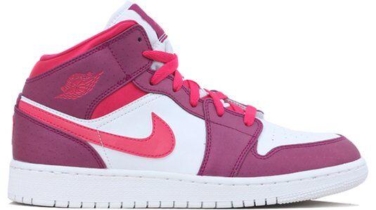 Air Jordan 1 Mid GS True Berry Rush Pink 籃球鞋/運動鞋 (555112-661) 海外預訂