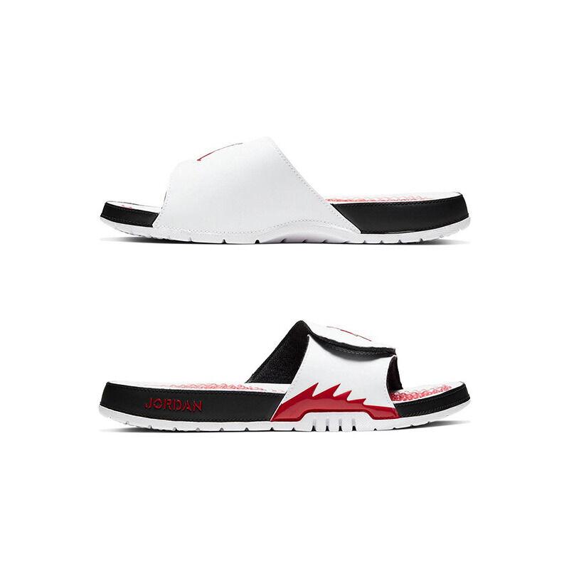 Jordan Hydro 5 Retro White Fire Red Beach & Pool Slides/Slippers (555501-101) 海外預訂