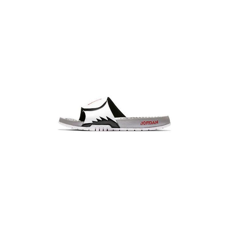 Air Jordan Hydro 5 Slide 'White Red Silver' White/Red-Silver Beach & Pool Slides/Slippers (555501-112) 海外預訂