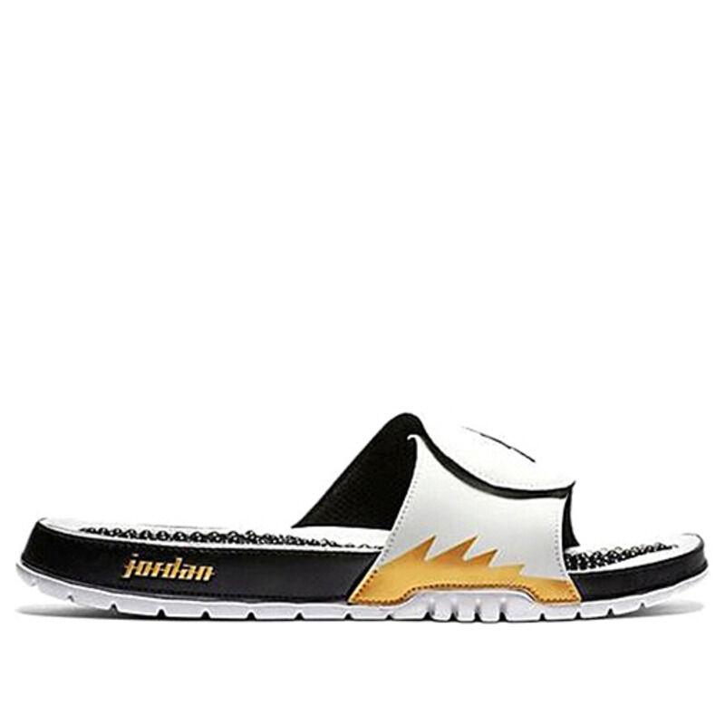 Jordan Hydro V Retro White Metallic Gold Beach & Pool Slides/Slippers (555501-153) 海外預訂
