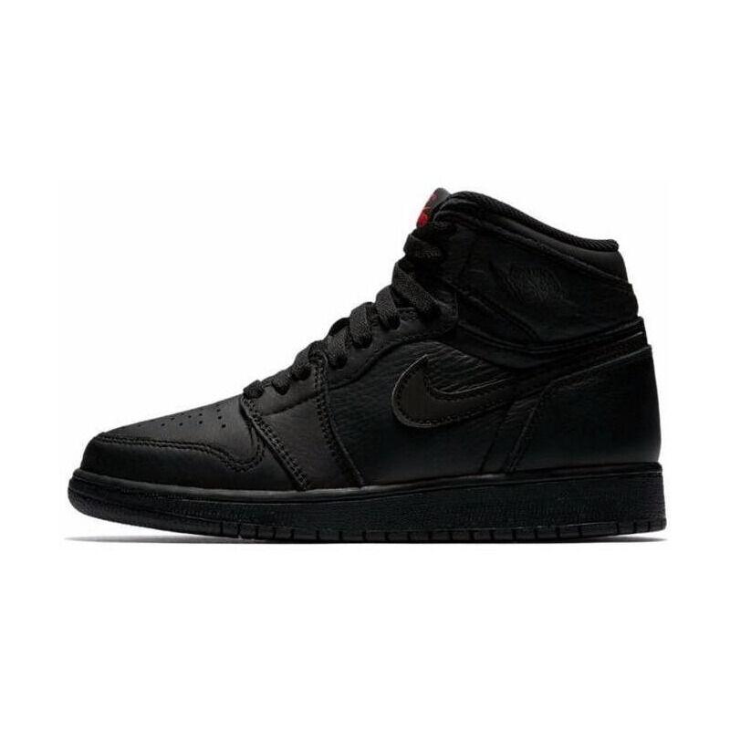 Air Jordan 1 RETRO High OG BG Black/UNIVERSITY Red 籃球鞋/運動鞋 (575441-022) 海外預訂