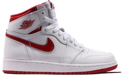 Air Jordan 1 Retro BG Metallic Red 籃球鞋/運動鞋 (575441-103) 海外預訂